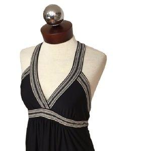 BCBG max azria Stretch halter dress Printed medium